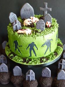 Zombie cake & cupcakes