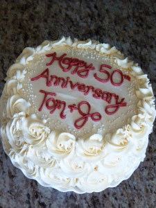 50 years!!   Happy Anniversary Tom & Jo!!