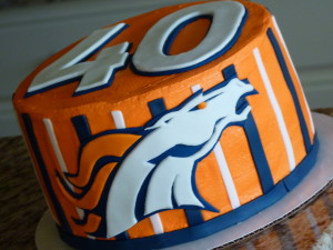 Broncos cake for 40th bday