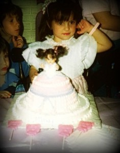 Me, and that cake Aunt Alice made me...